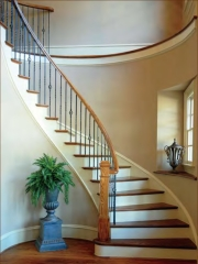 supported curved stair