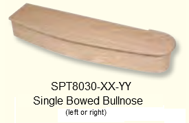 Single Bowed Bullnose Starting Step
